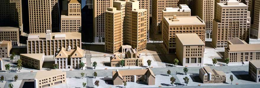 maquettes d'architecture et d'urbanisme